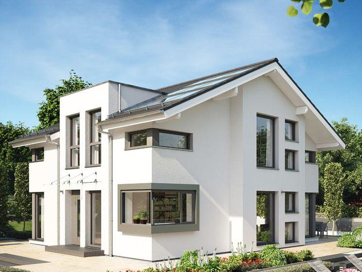 Einfamilienhaus satteldach zwerchgiebel  Virtuelle Besichtigung Dem CONCEPT-M 152 Musterhaus in Pfullingen ...