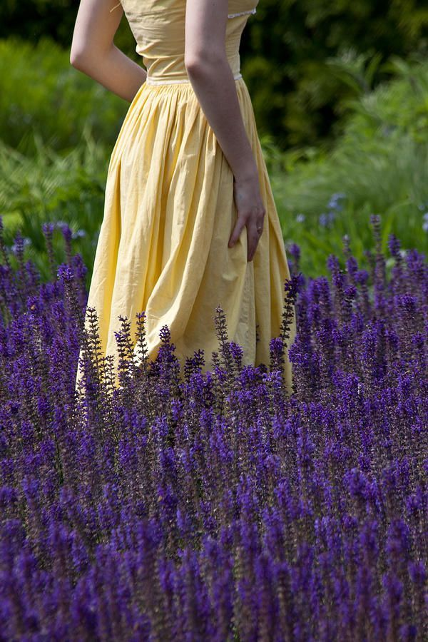 Yellow dress and purple flowers?? Those are a few of my favorite things!