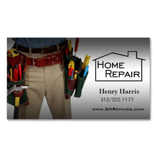 Home Repair Handyman Business Card Zazzle Com In 2021 Handyman Business Home Repair Handyman