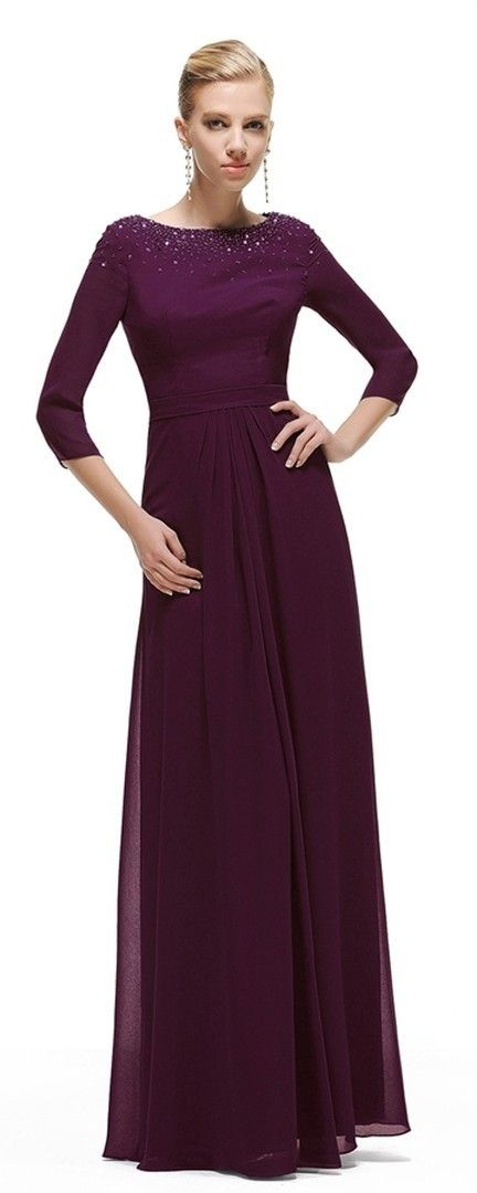 543bde2ba6d Eggplant mother of the bride dresses long modest mother of the bride dress  with sleeves plus size mother of the groom dresses wedding guest dresses