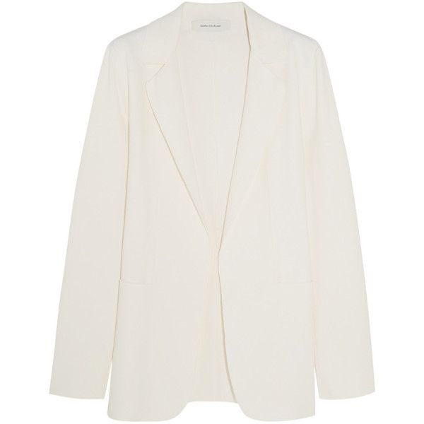 Cédric Charlier Stretch-jersey blazer, Women's, Size: 40 (€745) ❤ liked on Polyvore featuring outerwear, jackets, blazers, blazer, open front jacket, open front blazer, tailored jacket y tailored blazer