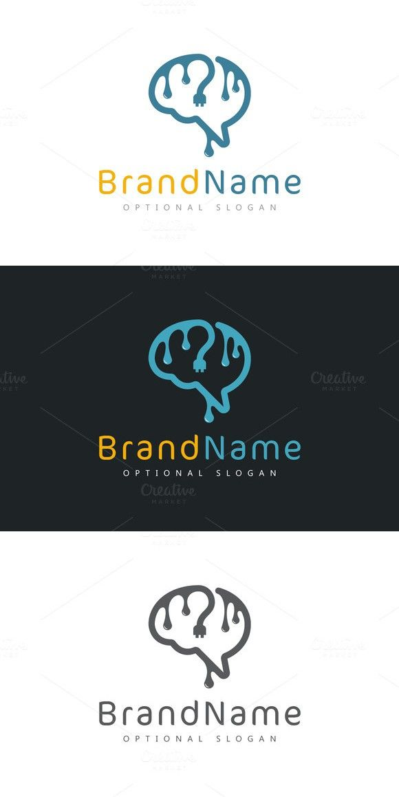 Ink Wire Brain Logo Templates Pinterest Brain Logo