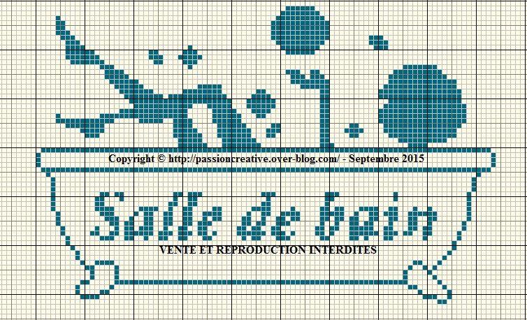 grille gratuite point de croix salle de bain 1 point de croix 1 vrac pinterest. Black Bedroom Furniture Sets. Home Design Ideas