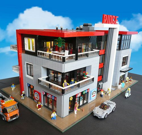 Lego the ridge modern townhouse legos pinterest lego for Modernes lego haus
