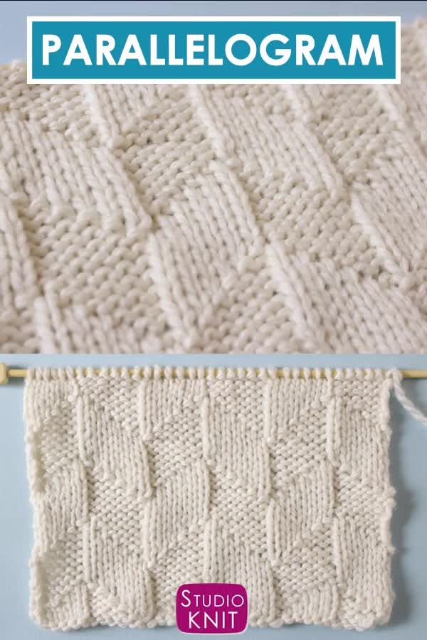 Parallelogram Stitch Knitting Pattern