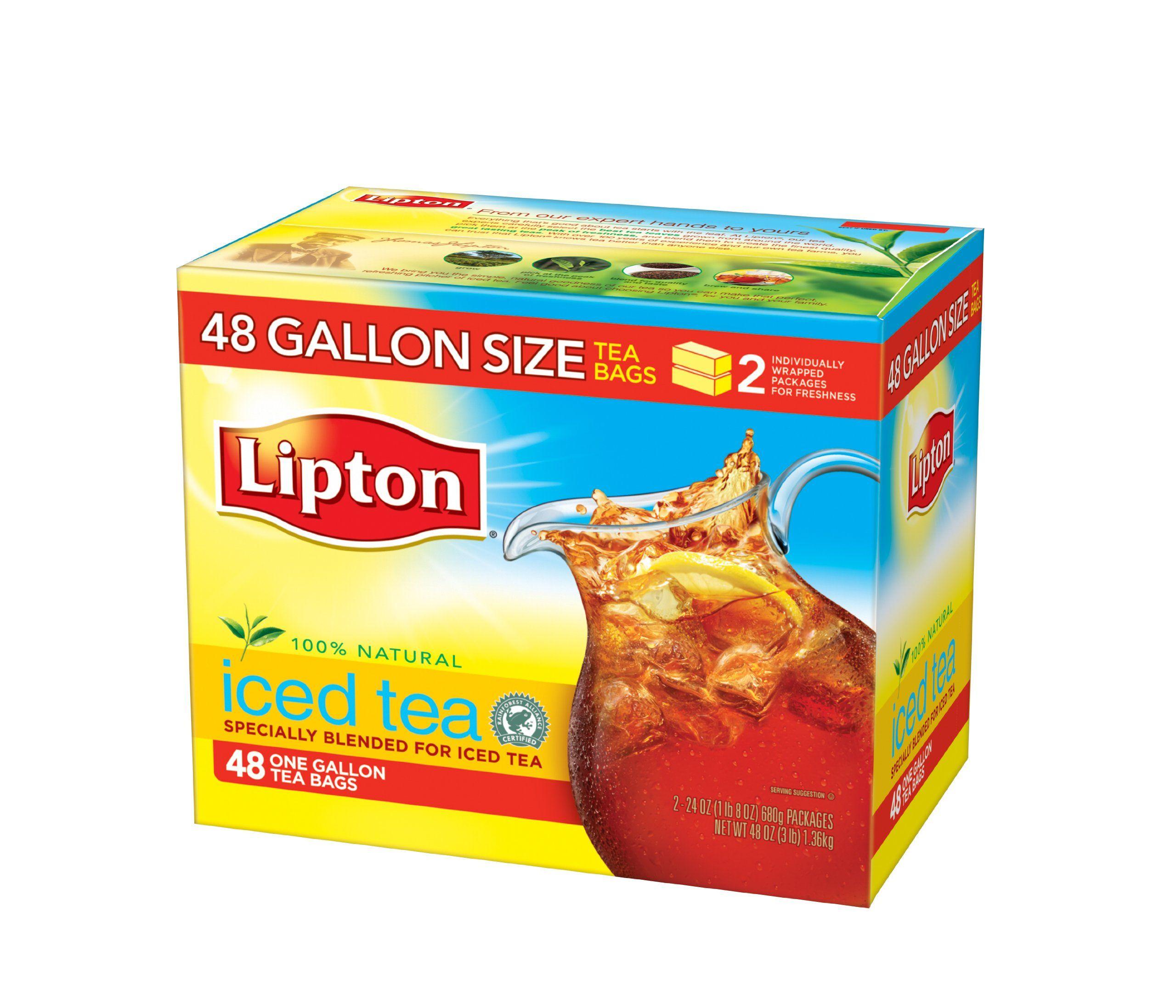 Lipton Iced Tea 48 One Gallon Size Bags
