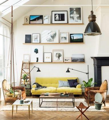 Cadres sur étagères - Photo  studio aico LiliLoveDéco Pinterest - apprendre a peindre un mur