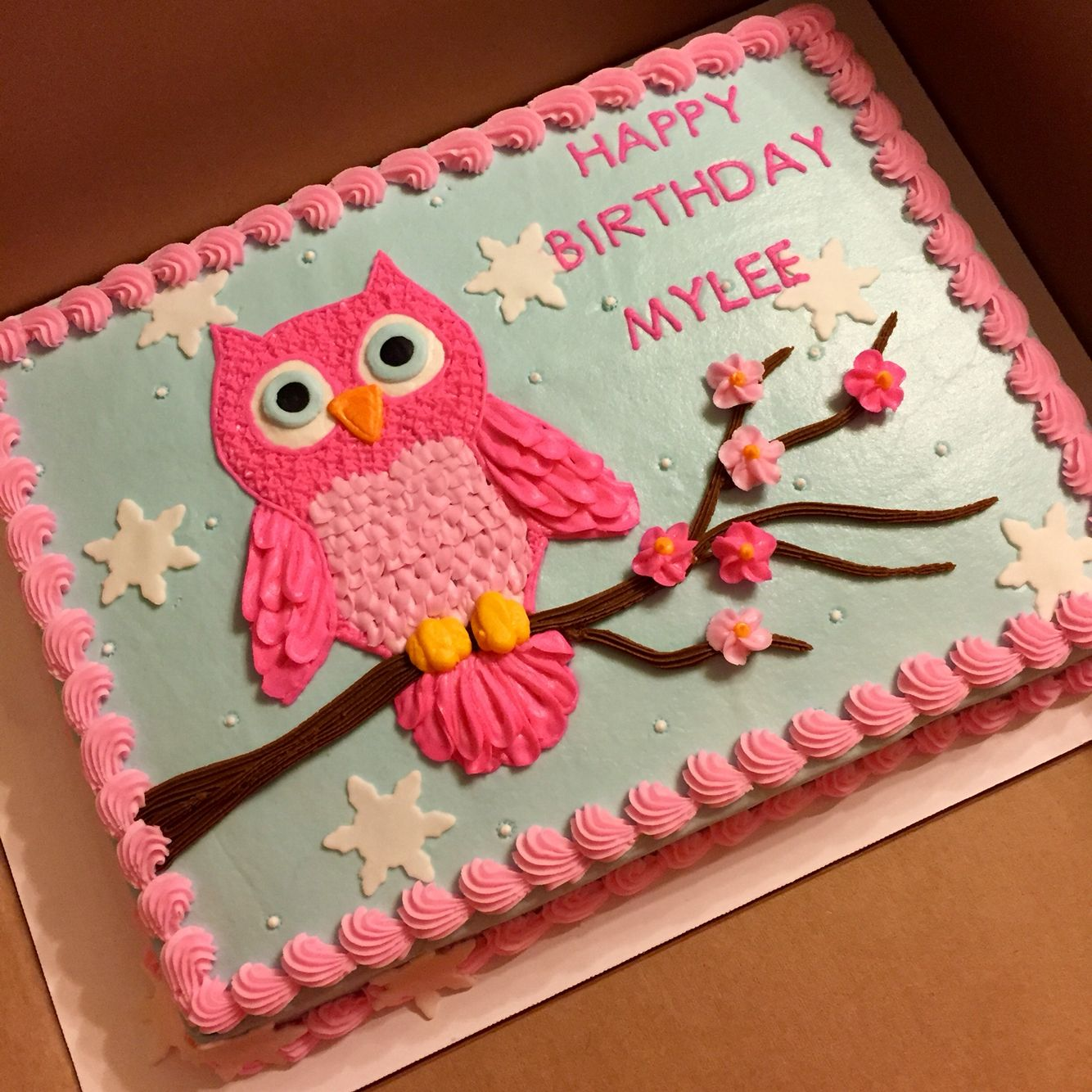 Owl Themed Baby Shower Cupcake Cake For Girl