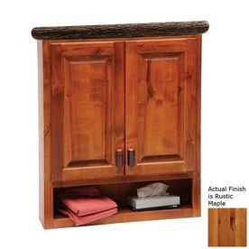 Fireside Lodge Furniture Hickory 32 In W X 36 In H X 8 In D Rustic Bathroom Vanitiesbathroom Furniturebathroom Wall Cabinetscabin