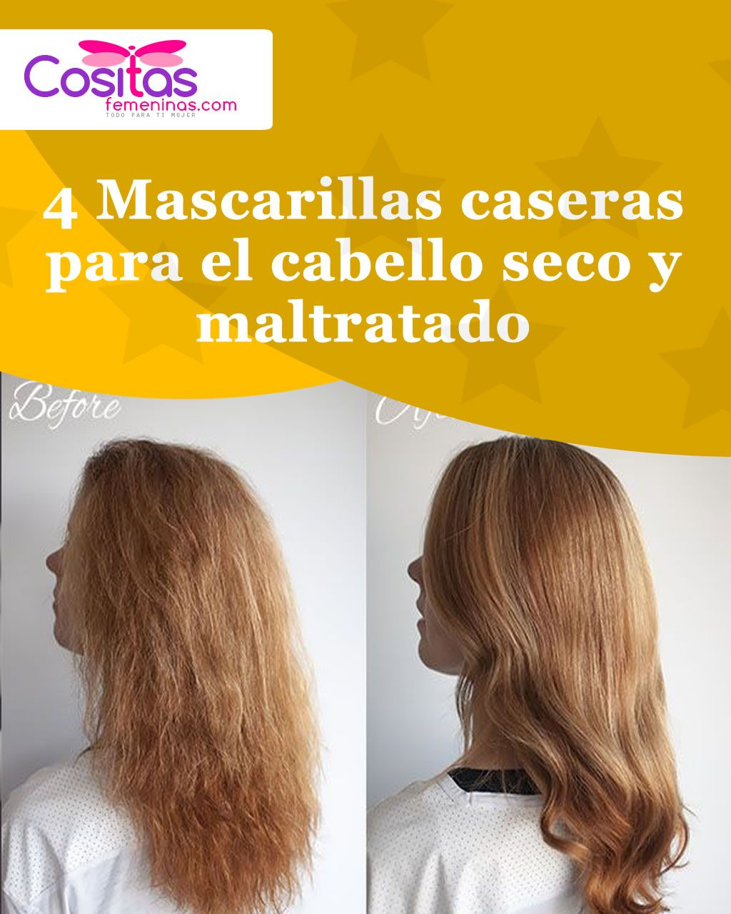 Si Tu Cabello Está Maltratado Y Extra Seco Estas Mascarillas Naturales Te Ayudarán A Devolverle La Salud Y La Grow Hair Natural Beauty Skincare Hair Treatment