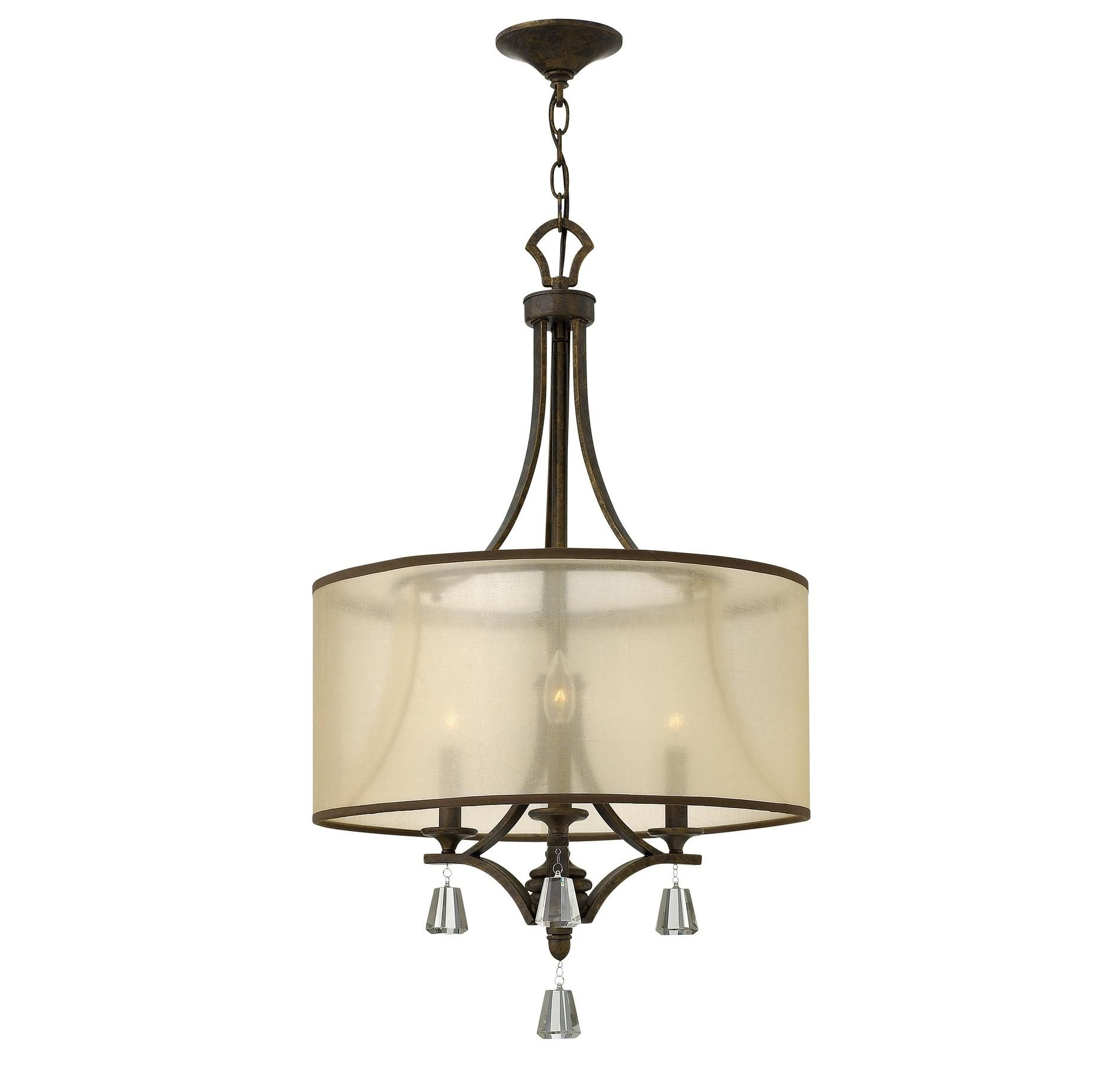 Breakfast Nook Light 3 Light Chandelier Drum Shade
