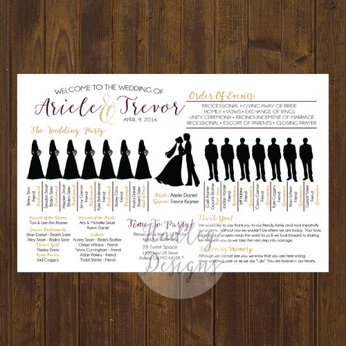 wedding programs wedding ceremony programs wedding program ideas