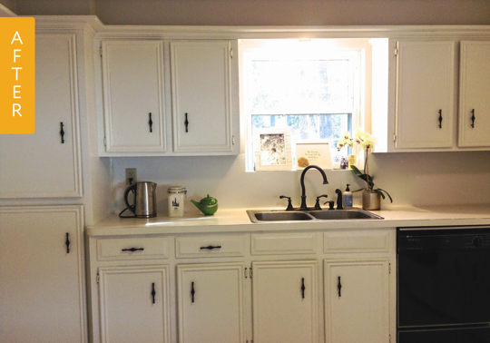 Before after a dark 1960s kitchen gets a bright 185 for 1960 kitchen cabinets