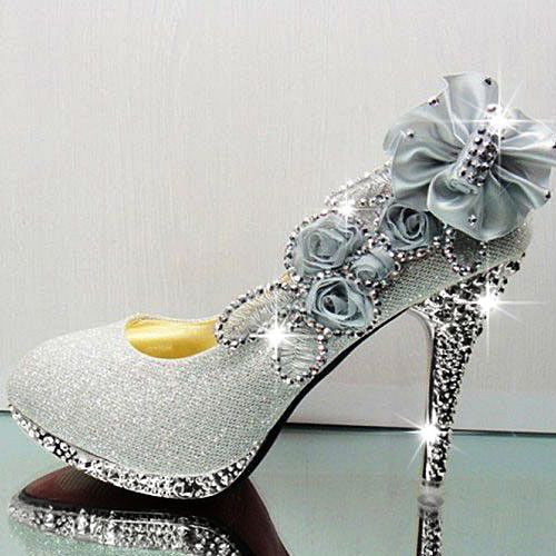 sliver high heels beautiful prom shoes Zapatos Pinterest