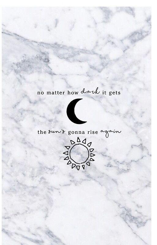 No Matter How Dark It Gets Marble