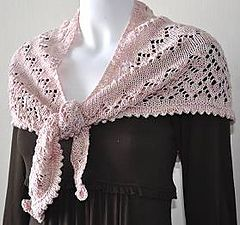 Ravelry: Lace Pattern Shawlette in DK Panda Silk pattern by Gail Tanquary