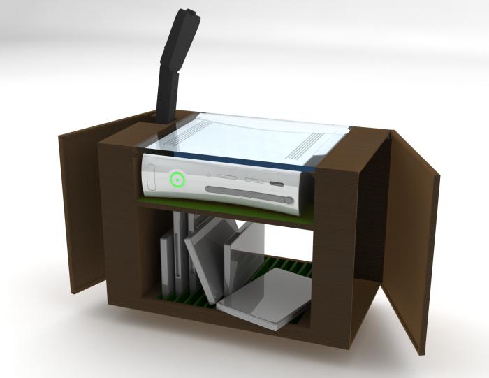 Xbox 360 Storage Unit by Sam Wilkinson at Coroflot com | Gaming/Game