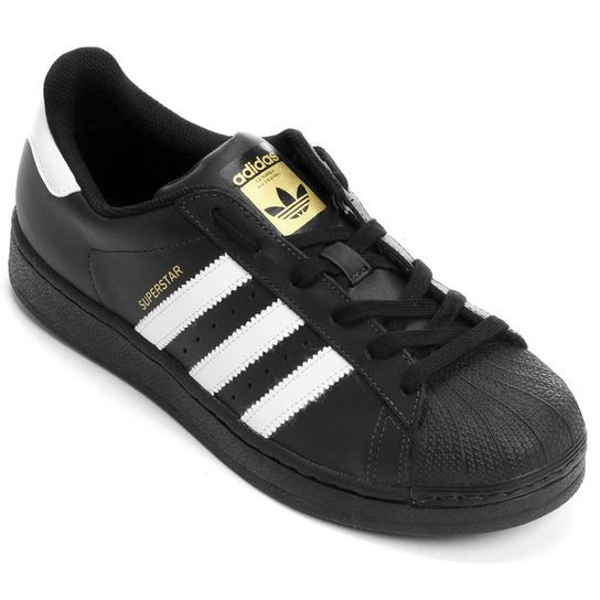 R$ 349,90 T�nis Adidas Superstar Foundation - Preto+Branco