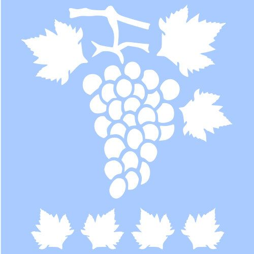 THIS IS A BEAUTIFUL GRAPES FRUIT LEAF TEMPLATE STENCIL BRAND NEW - leaf template