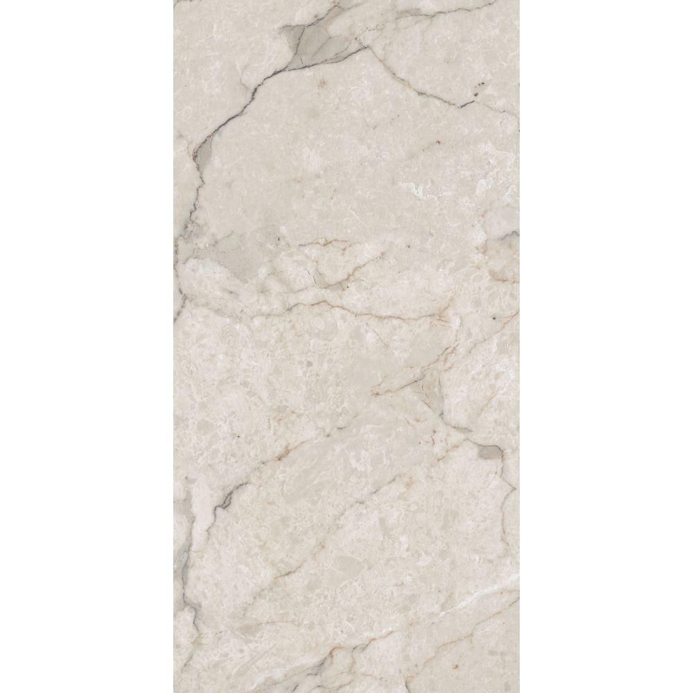 12 in. x 23.82 in. Carrara White Luxury Vinyl Tile ...