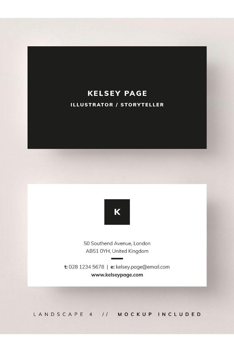 Business Card Kelsey Calling Card Design Business Card Design Business Card Typography