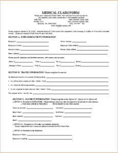 Medical Claim Form DOWNLOAD At Http://www.templateinn.com/official