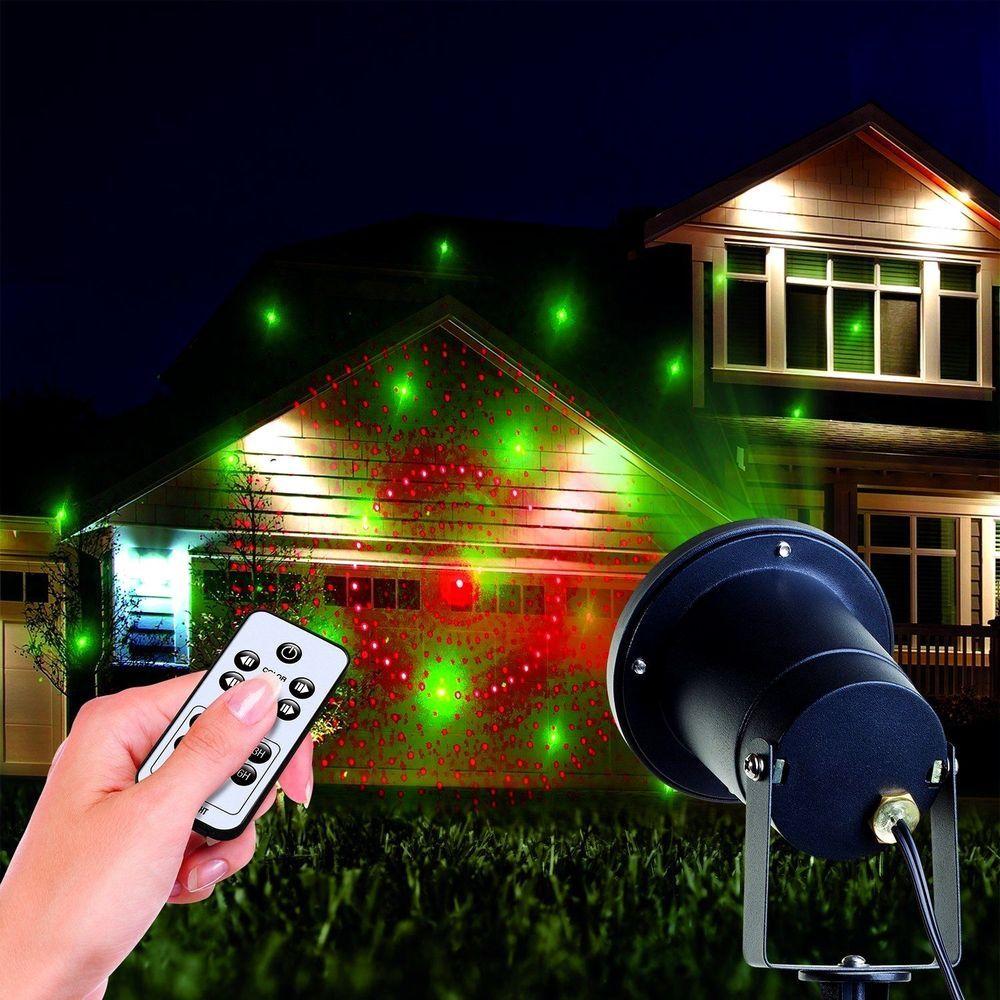 Outdoor Laser Lights Shower Projector Christmas Night House Light Diy Lamp Gift Christmas Lights Indoor Decor Christmas Light Show Outdoor Holidays
