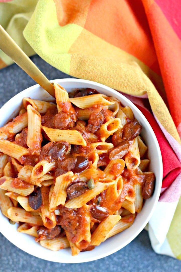 Instant Pot Pasta Puttanesca Vegan