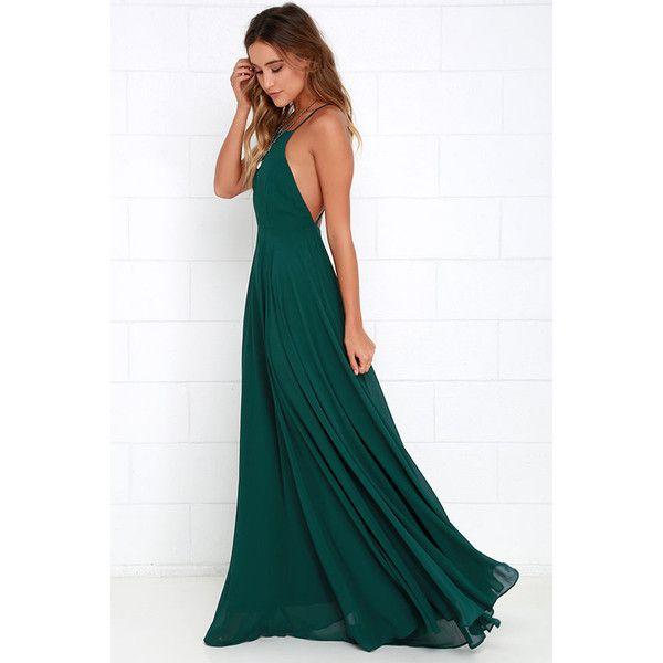 Dark Green Fitted Dress