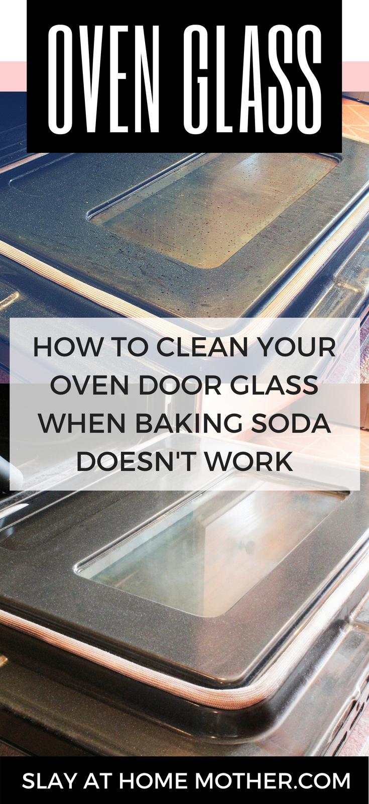How to clean your oven glass door