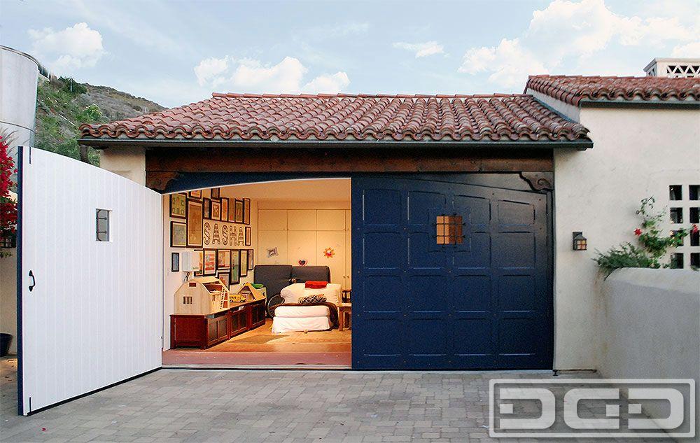 Spanish Colonial Carriage Doors For Garage Conversion In Los Angeles Ca Garage Doors Carriage Doors Contemporary Garage Doors