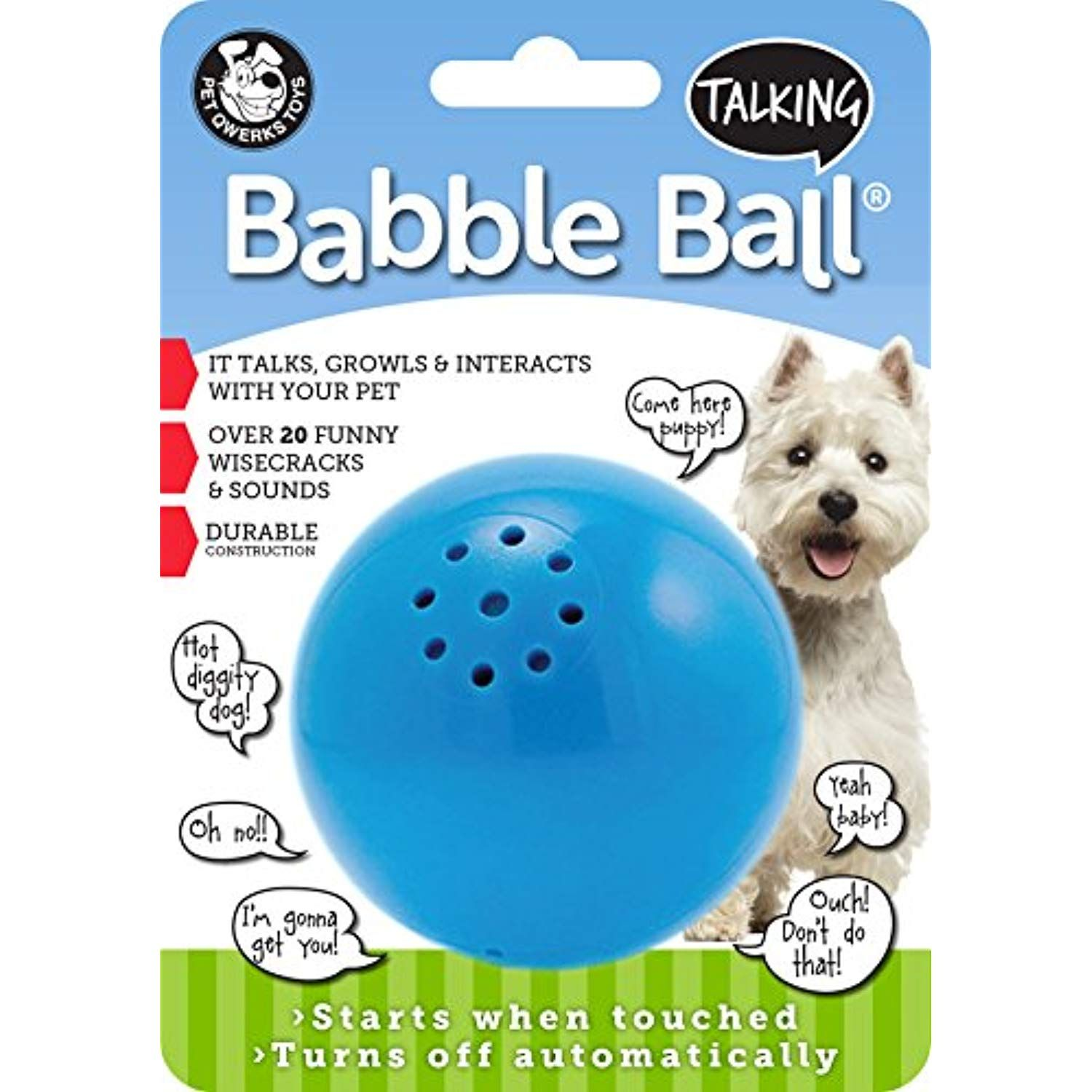 Pet Qwerks Talking Babble Ball Dog Toy Be Sure To Check Out