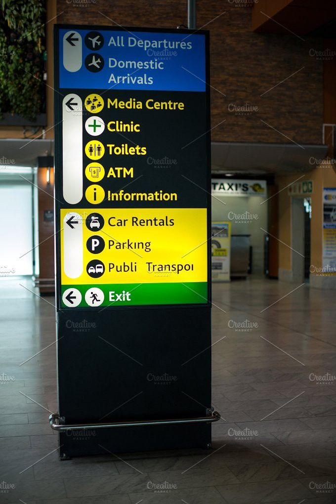 Close Up Of Information Board In 2020 Information Board Digital Signage Signage Design