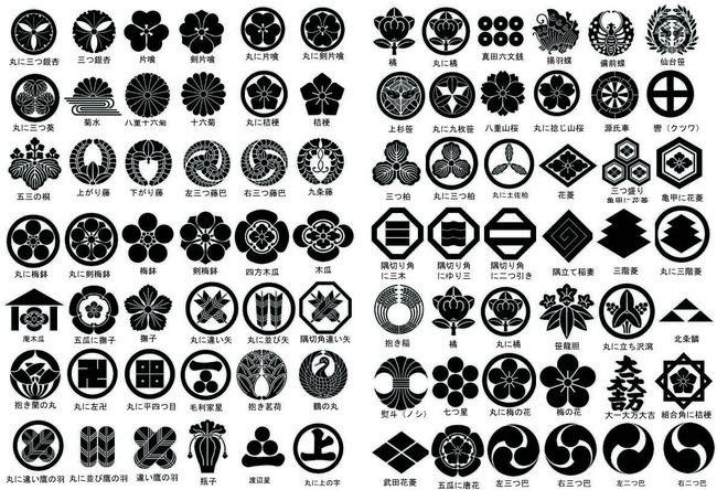 Japanese Kamon Japanese Japan Pattern