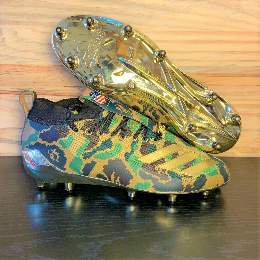 4537df363d4 eBay  Sponsored Adidas Bape x Adizero Men s Football Cleats Superbowl  Edition Gold Camo SZ 8.5