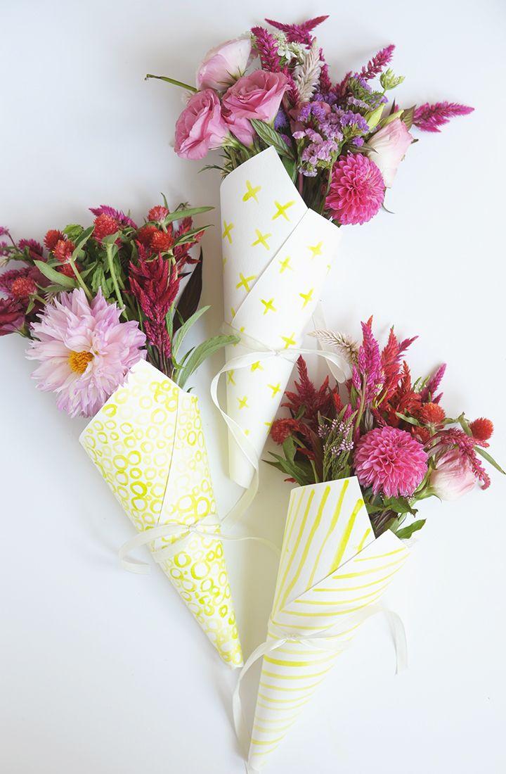 Diy Watercolor Flower Bouquet Wraps Diy Pinterest Flower