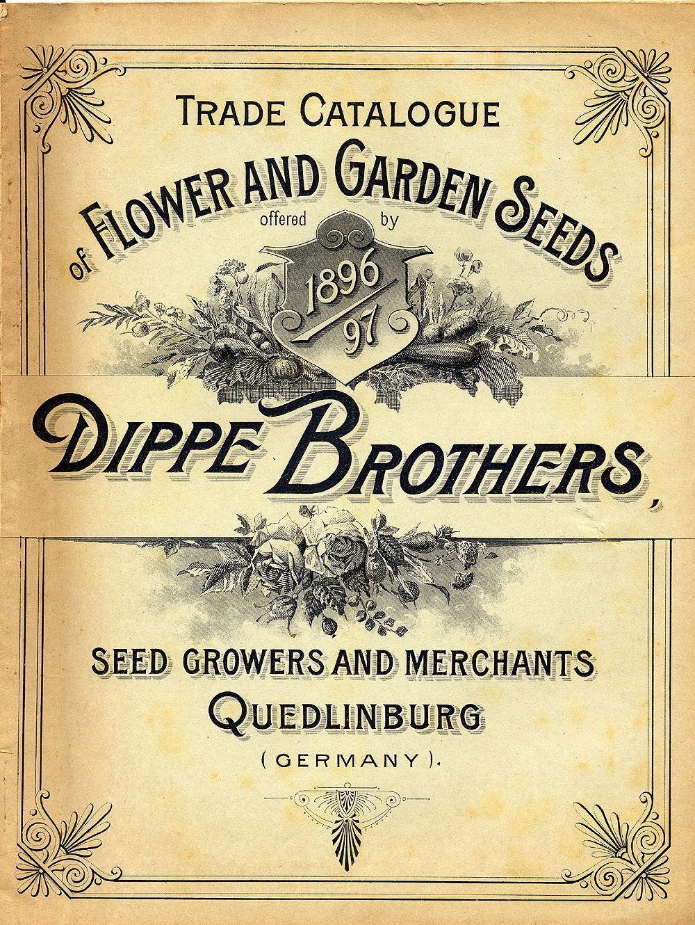 Seed catalogue cover art, 1896 (With images) Clip art