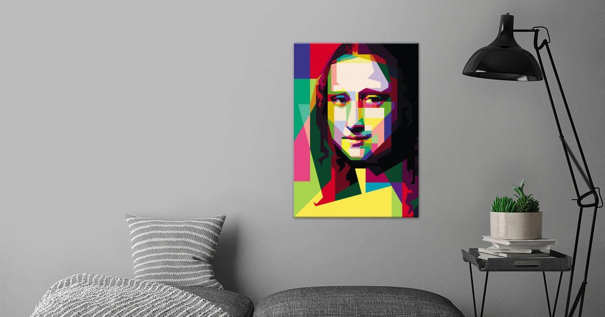 monalisa popart painting #monalisa #leonardodavinci #walldecor #digitalart #metalposter   Displate thumbnail