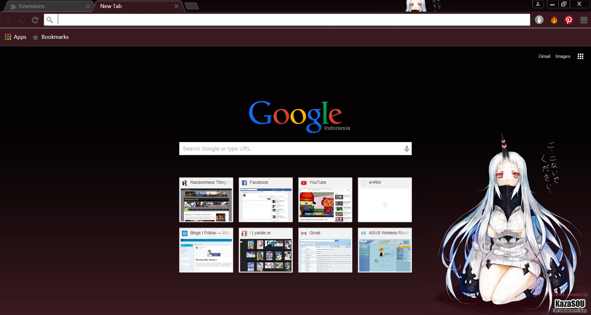 Gmail themes chrome - More Villain Vessels From Kantai Collection To Fill Up Your Google Chrome Theme And This Time