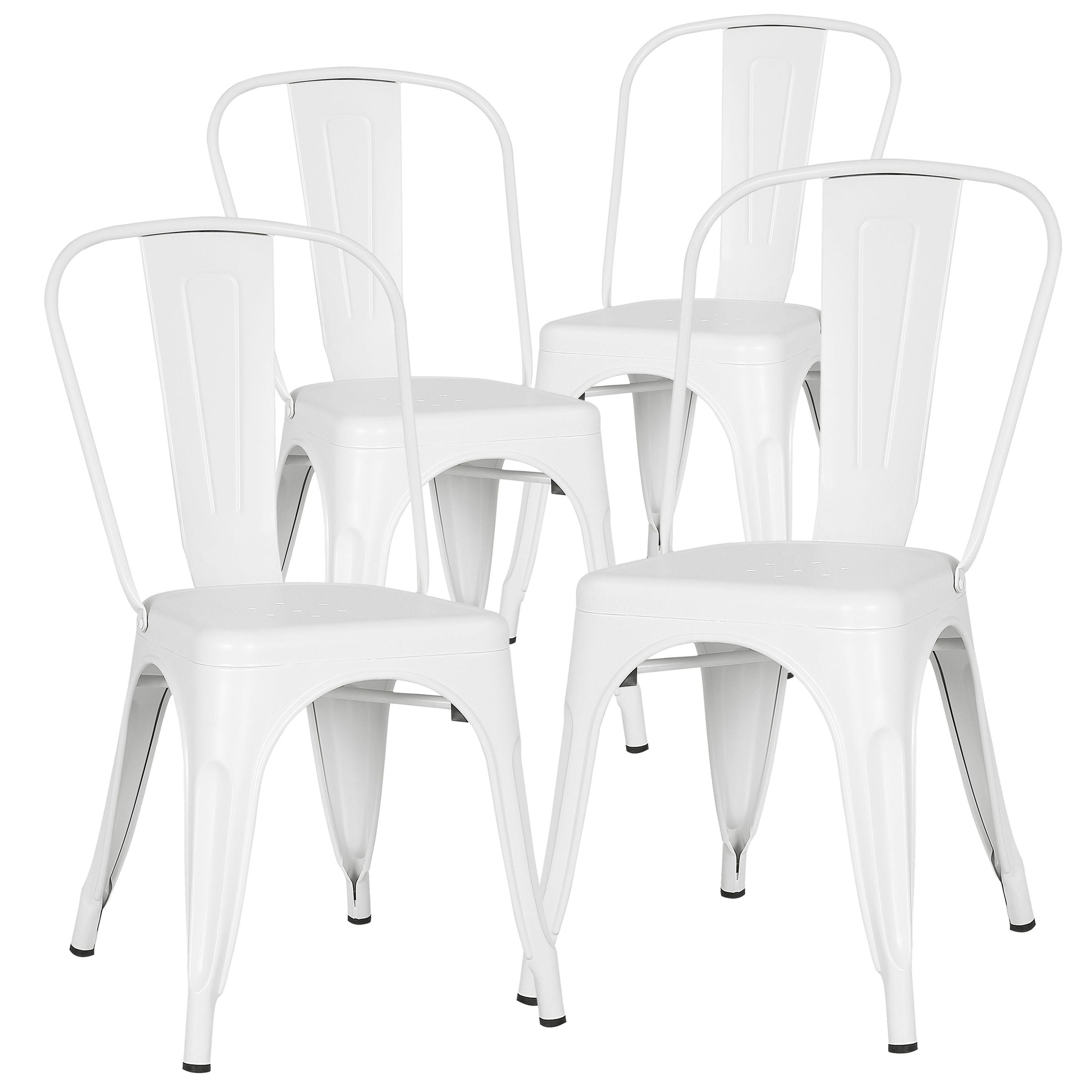 Edgemod trattoria side chair in white set of 4 walmart