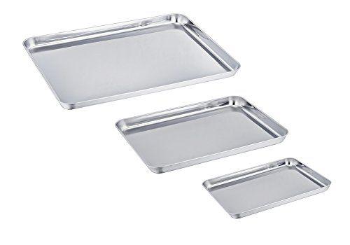 Teamfar Baking Sheet Set Of 3 Stainless Steel Cookie She Https Www Amazon Com Dp B072 Stainless Steel Cookie Sheet Clean Dishwasher Baking Pans