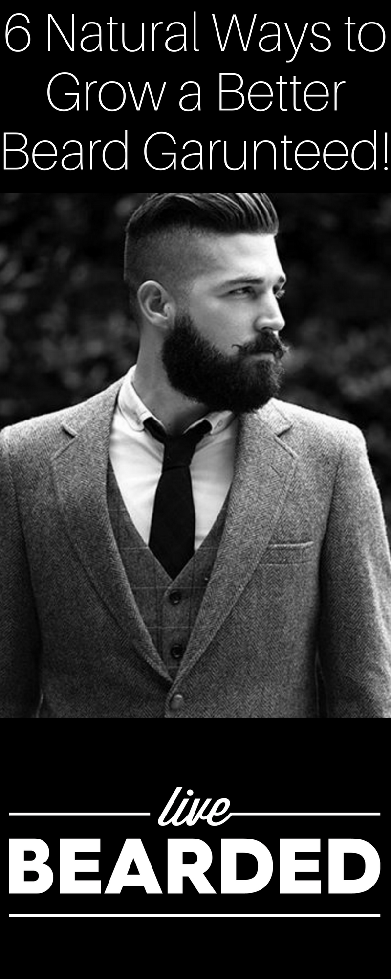 how to grow beard naturally