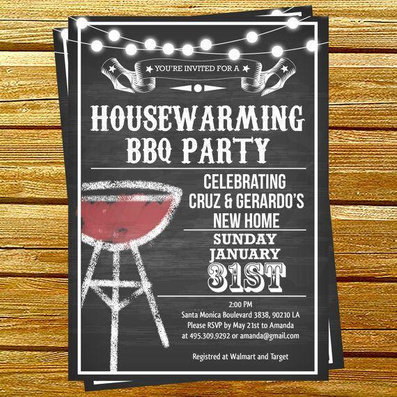 Housewarming Bbq Party Invitations