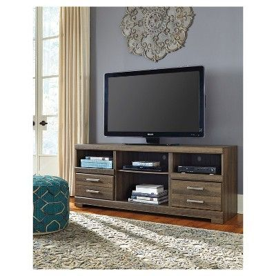 Frantin Brown Lg Tv Stand With Fireplace Option
