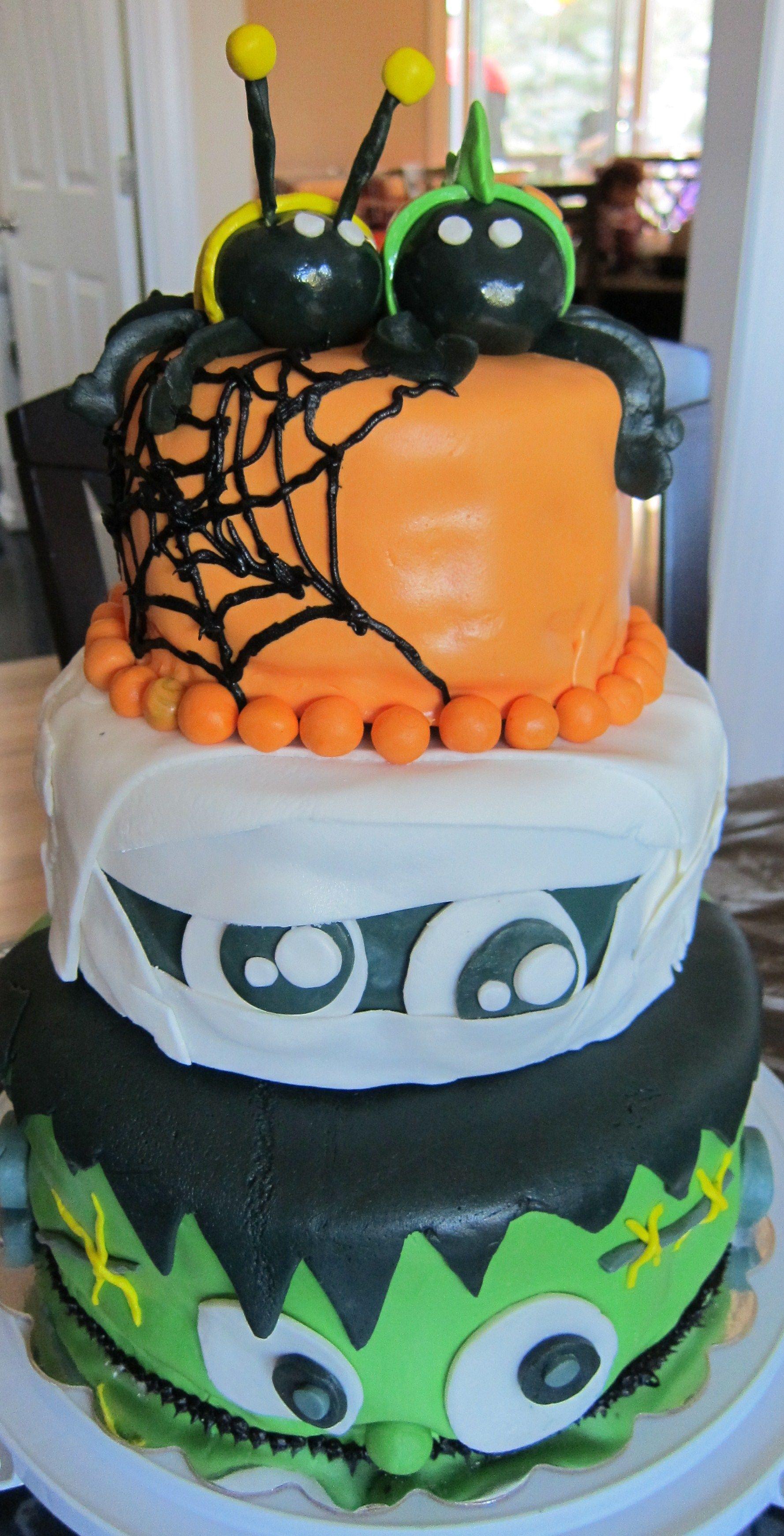 Spooktacular Halloween birthday cake