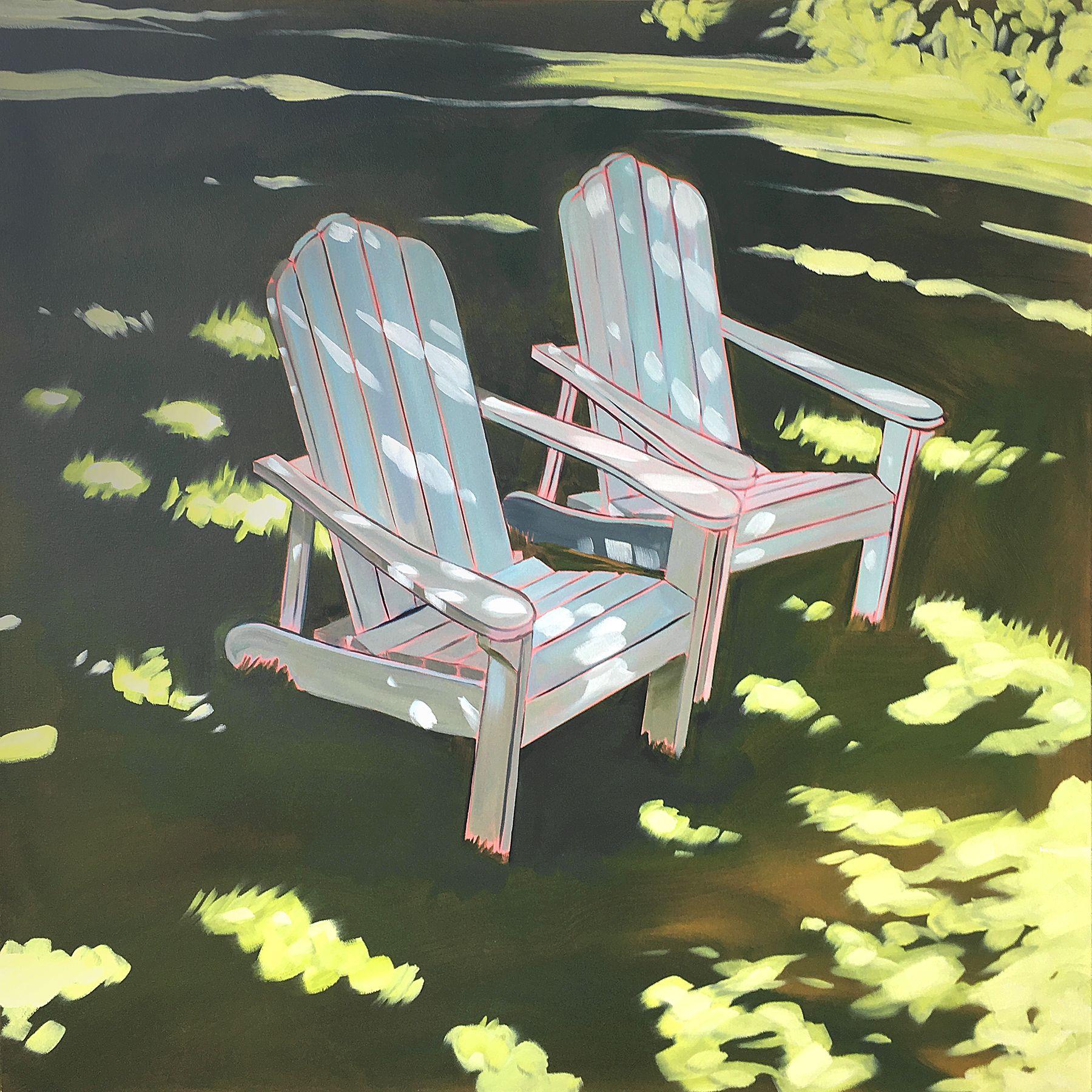 Oil Painting Chairs Light Kansas City Artist Adirondack Adirondack Chairs