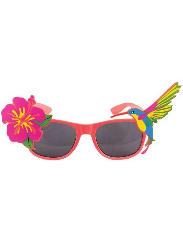 a223c3049f Tropical-Luau-Dark-Lens-Sunglasses-Neon-Frames-Fancy-Dress-Summer -Party-Festival