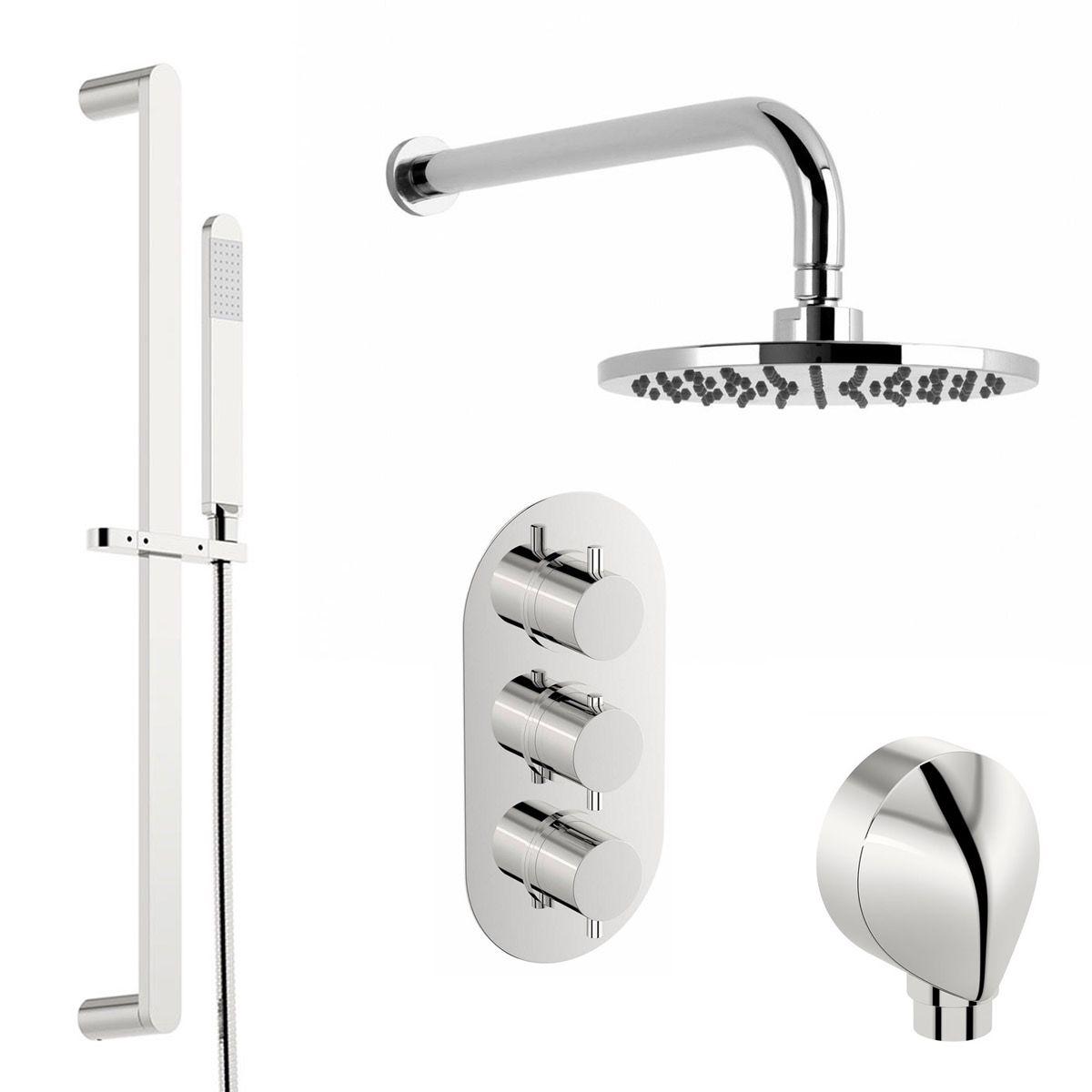 Mode Harrison thermostatic triple shower valve shower set | Shower ...
