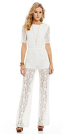 5f3493f4bb9 Sugarlips Short Sleeve Lace Jumpsuit