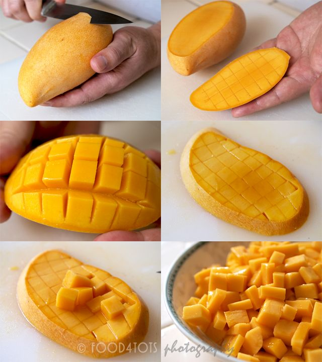 How to cut a mango..can't tell you how many mangos I have ...